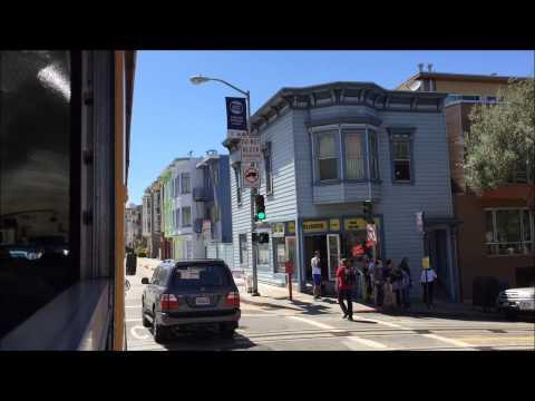 School Bus HD 60 FPS: Riding International Corporation RE300 Bus Through Downtown San Francisco