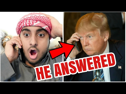 CALLING DONALD TRUMP!!! *GONE WRONG* (He Actually Picked Up)