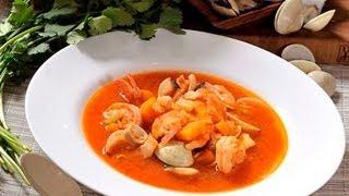Caldo de mariscos a la mexicana - Mexican Seafood Soup