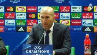 Zidane. Sus palabras tras la victoria. Roma 0-2 Real Madrid