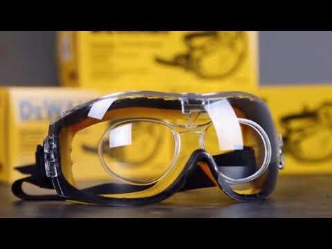 Dewalt Safety Goggles Eye Anti Fog Glasses Concealer Protective Over Clear Lens