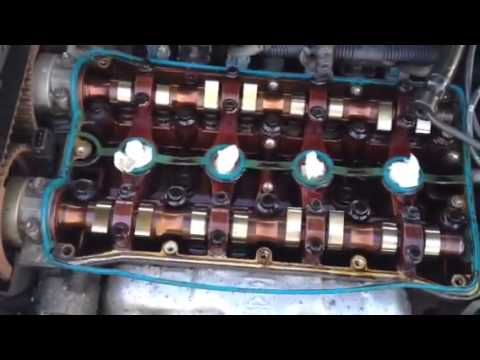 Chevy Aveo Valve Cover Gasket Oil On Spark Plugs Change Youtube