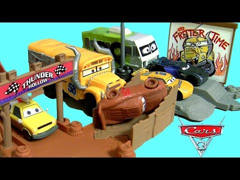 Cars 3 thunder hollow challenge playset story sets collection disney pixar cars 3 car toys for - Coloriage cars 3 thunder hollow ...
