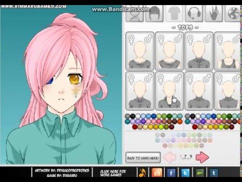 Играем в игру Создай своего аниме персонажа!
