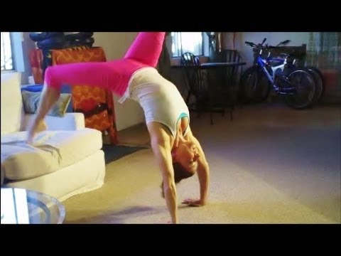 How To Do A Bridge And Backbend Kickover With Coach Meggin (Professional Gymnastics Coach)