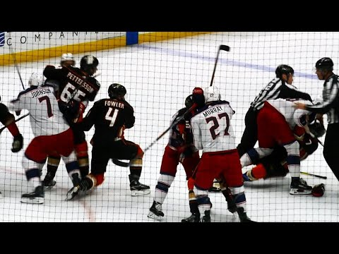 Fowler misses, face plants trying to save Cogliano in fight