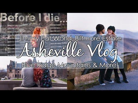 Asheville Vlog // America's Largest Home, Crazy Rock Slide & Jimmy Eat World!