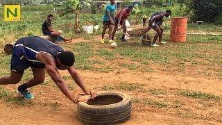 【ラグビー】環境なんて関係ない!大自然トレーニング | Fiji youth who love rugby
