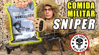 Probando COMIDA MILITAR de SNIPER de Polonia   MRE FRANCOTIRADOR   Curiosidades con Mike