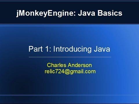Basic Java Tutorial using jMonkeyEngine