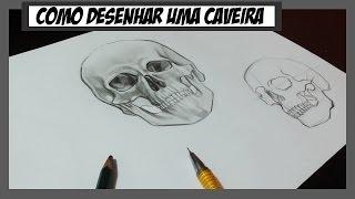 Como desenhar uma Caveira Realista - How to draw Skull