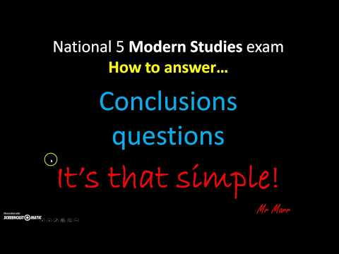 Mr Marr - National 5 Modern Studies: Conclusions questions