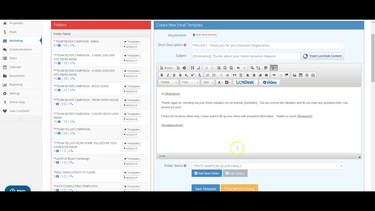 creating liondesk crm drip campaigns by a producing agent youtube