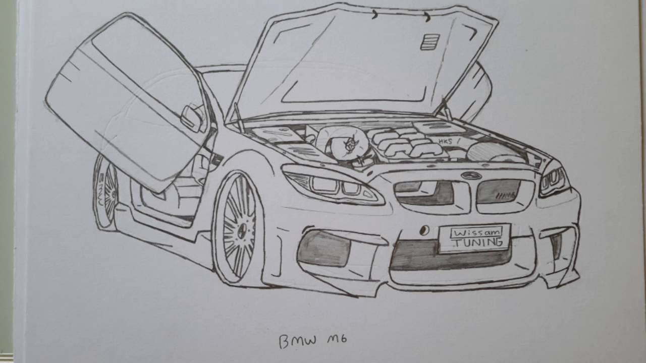 Beat car in the world bmw drawing