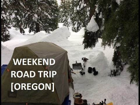 [WEEKEND ROAD TRIP] SNOW CAMPING at Crater Lake National Park, Oregon, USA