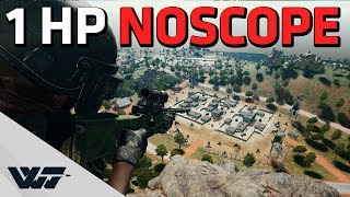1 HP NOSCOPE - Last game using the OP AWM (before nerf) - PUBG