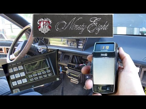 1986 Oldsmobile Ninety Eight – RARE Factory CB Radio and Dash Computer Install