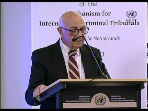 Launch of the Hague Branch of the Mechanism for International Criminal Tribunals (MICT or Mechanism)