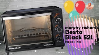 Morphy Richards OTG Besta 52-Litre Oven Toaster Grill - Black Unboxing & Product Review