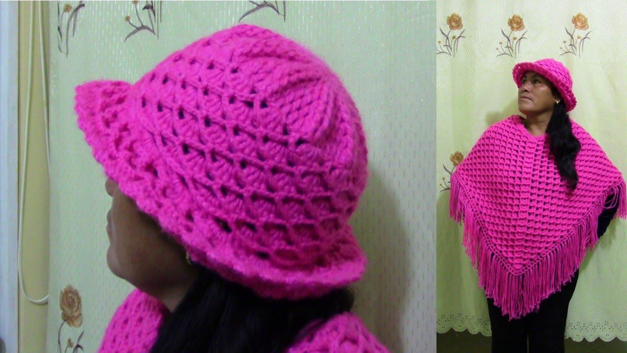 Sombrero tejido a crochet paso a paso en punto abanicos en relieve ...