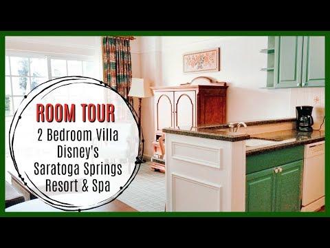 DISNEY'S SARATOGA SPRINGS RESORT & SPA | 2 Bedroom DVC Villa ROOM TOUR