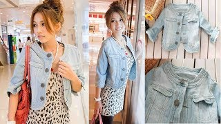 Ladies Denim Jackets Outwear Jeans Coat Review | Best Jackets For Women Fashion 2018
