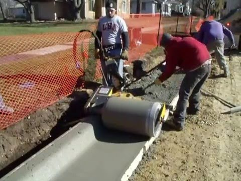 Curb Roller With Proper Slump Youtube