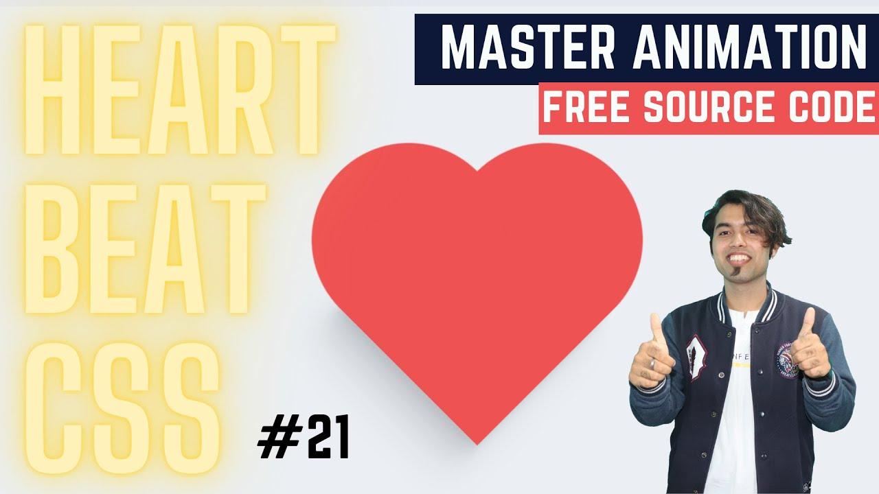 Create Heart Shape & Heartbeat Animation using Pure CSS