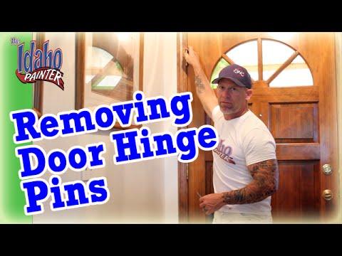 How To Remove A Door Hinge Pin Oiling A Door Hinge Removing Door