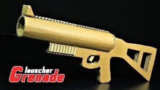 How To Make Grenade Launcher That SH00Ts  From Cardboard