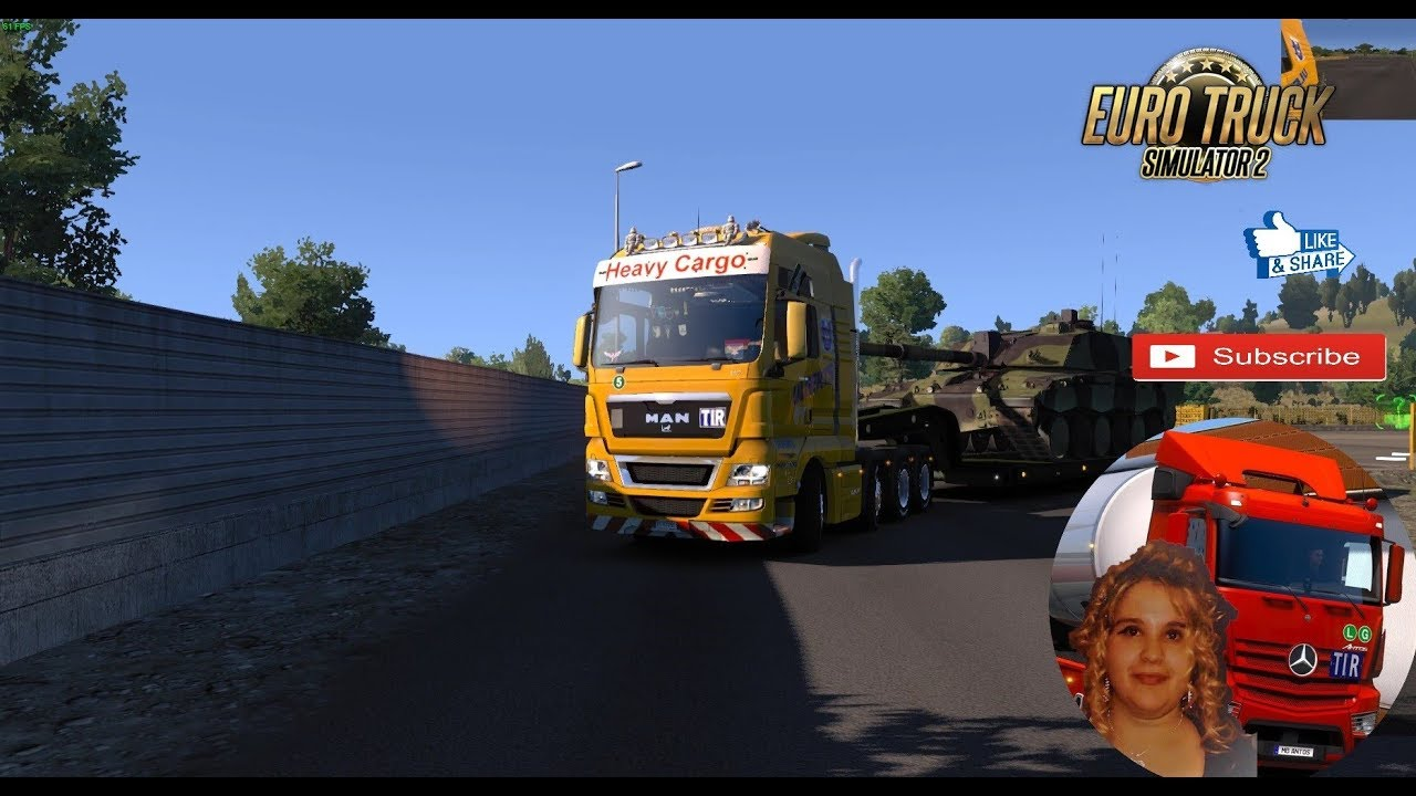 Euro Truck Simulator 2 (1 32) Trailer Military Cargo Pack by Jazzycat  v2 8 1+ DLC's & Mods
