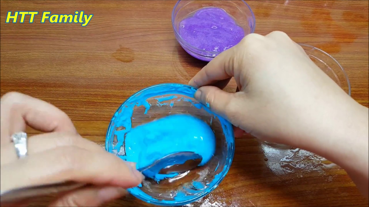 How To Make Slime hair gel and Water and Salt Only Without ...