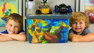 HUGE Ninja Turtles Surprise Bucket TMNT & Kid Surprise Toys for Boys Cars Kids Toy Kinder Playtime
