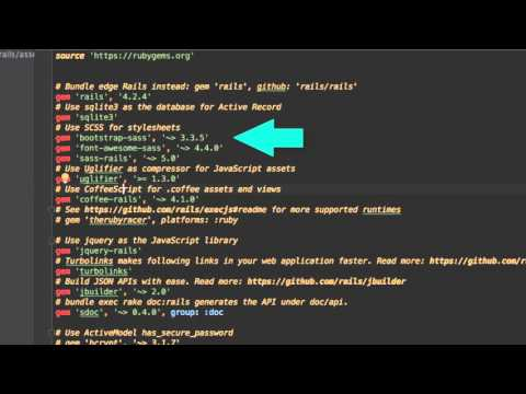 Learn how to prepare a template for Ruby On Rails - YouTube