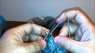 Knit in the Stitch Below (K1b, K-b) Left Handed- Continental