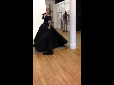 Anna Cleveland Dancing in Zac Posen