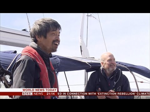 Mitsuhiro Iwamoto first blind non-stop Pacific journey (Japan) - BBC News - 20th April 2019