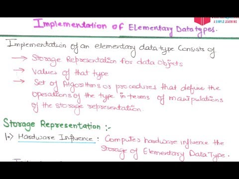 12- Implementation of Elementary Data Type in Programming Languages Tutorials