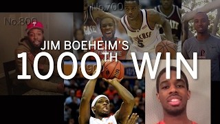 Ex-Syracuse basketball players congratulate Jim Boeheim on 1,000th win