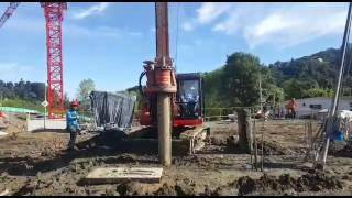 TES CAR CF3 S _ (Mini drilling rig) Foundation piles diam. 500 mm / 21 m prof @ Manizales, Colombia