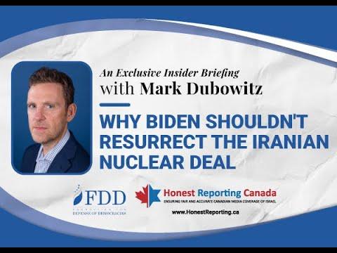 HRC Webinar: Why Biden Shouldn't Resurrect the Iran Nuclear Deal