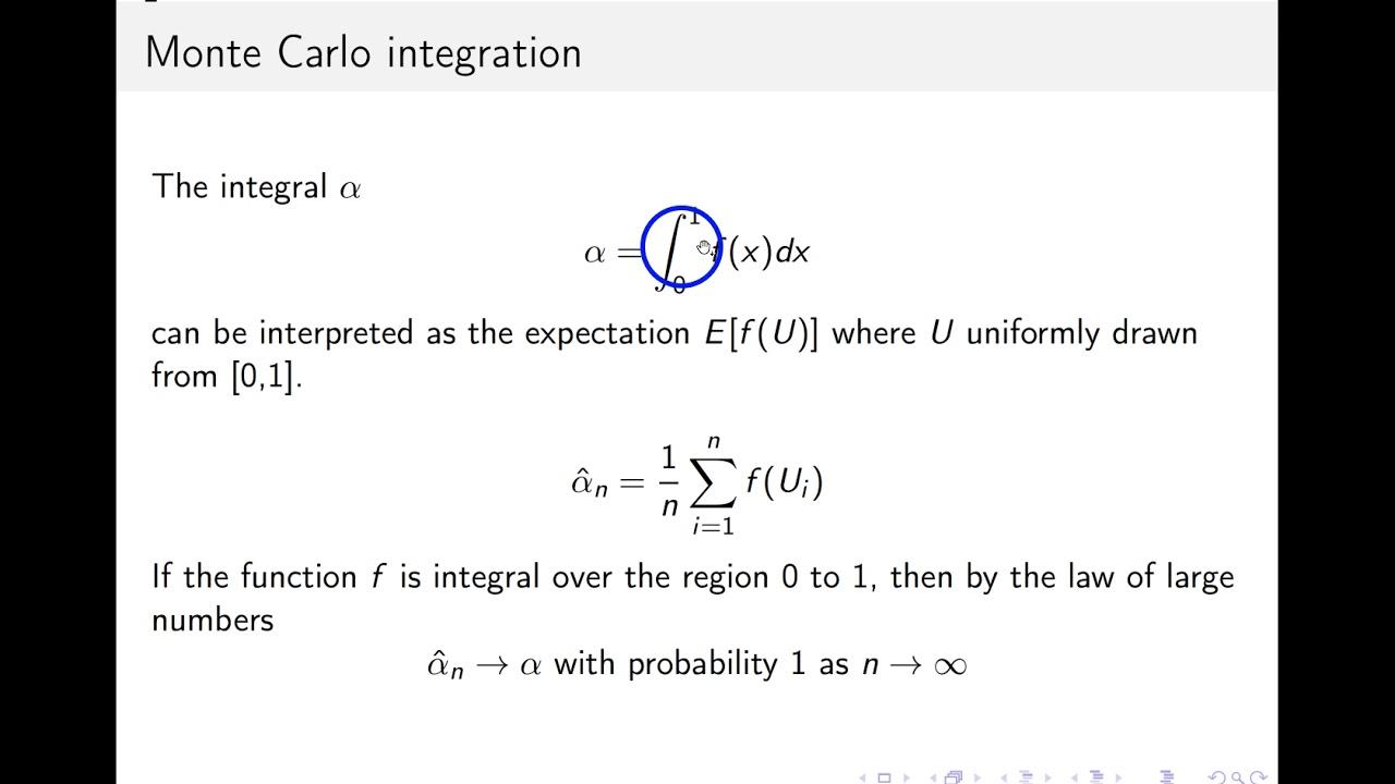 Basic Monte Carlo integration with Matlab