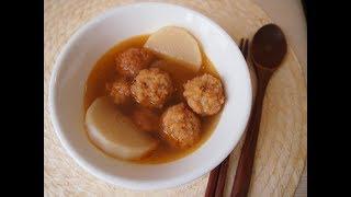 Простые корейские рецепты: Суп с рыбными клецками (어묵 국) омук гук