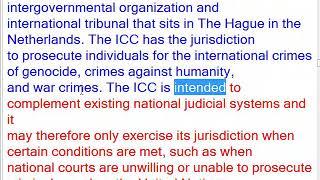 International Criminal Court (ICC)'