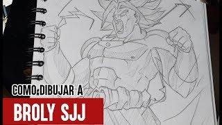 Como Dibujar a Broly SJJ Paso a Paso // How to draw Broly //DRAGON BALL Z // BillyArt