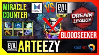 Arteezy - Bloodseeker | Miracle COUNTER | Dota 2 Pro Players Gameplay | Spotnet Dota2