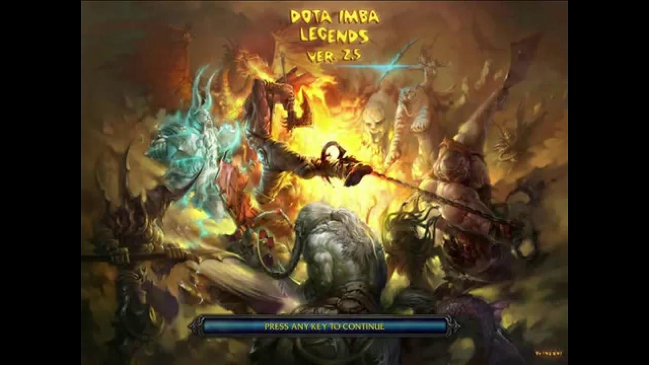 Dota Imba Legends V2 5 Upd 2 Ai Map Youtube