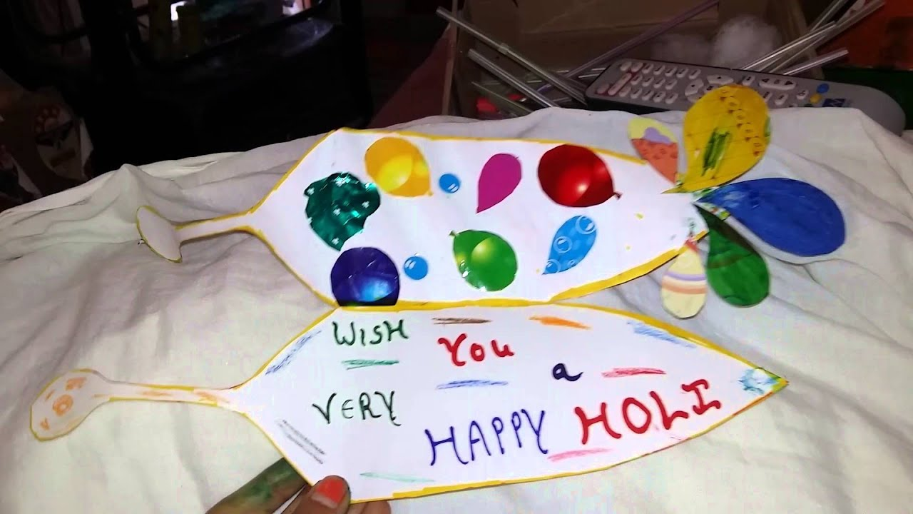 holi card making ideas