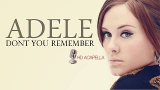 Adele - Dont You Remember (Almost Studio Acapella) + Download (HD)