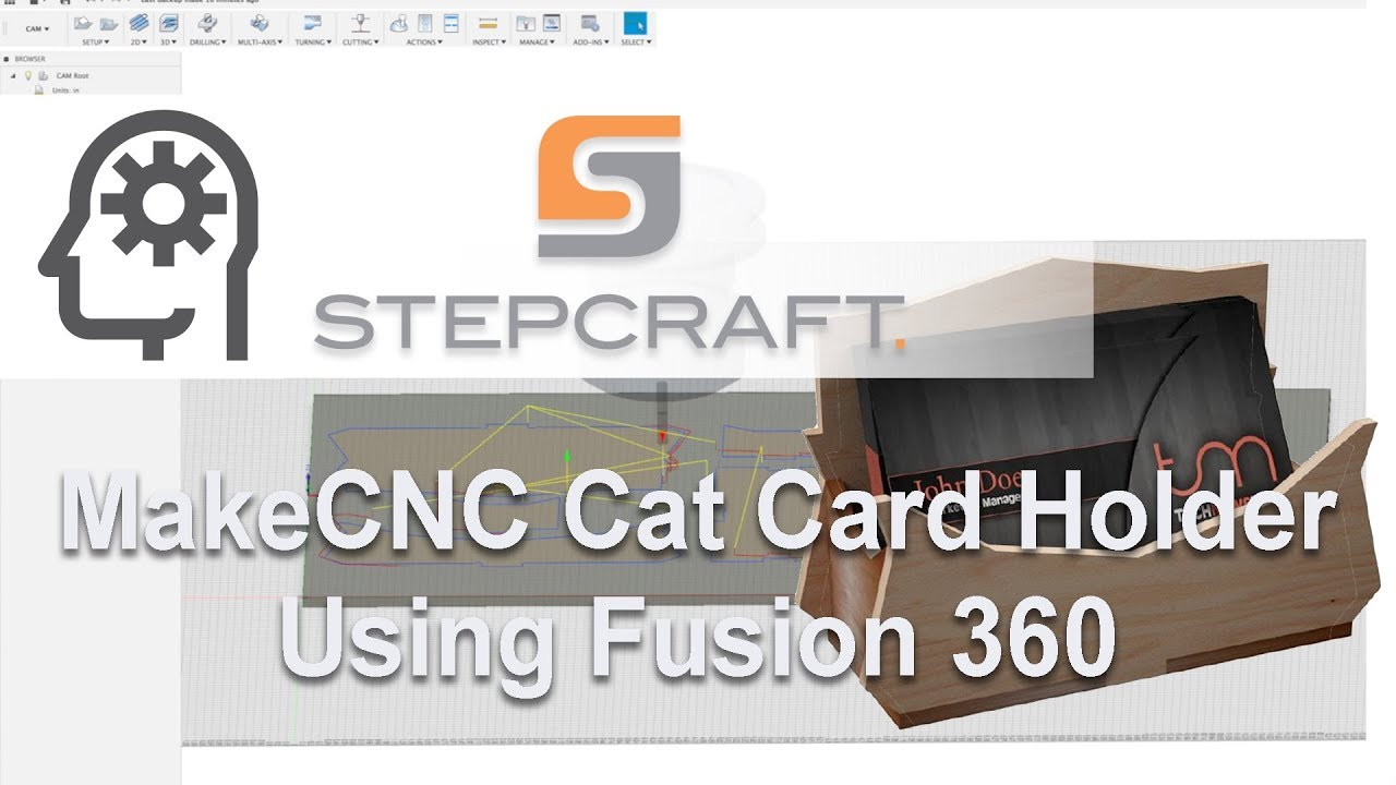 Cat Business Card Holder Puzzle Tutorial on a STEPCRAFT CNC Using ...